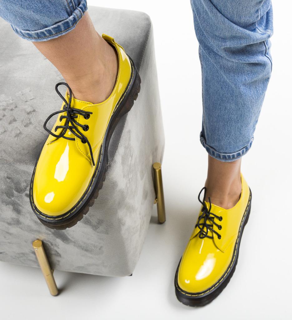 Pantofi Casual Riley Galbeni