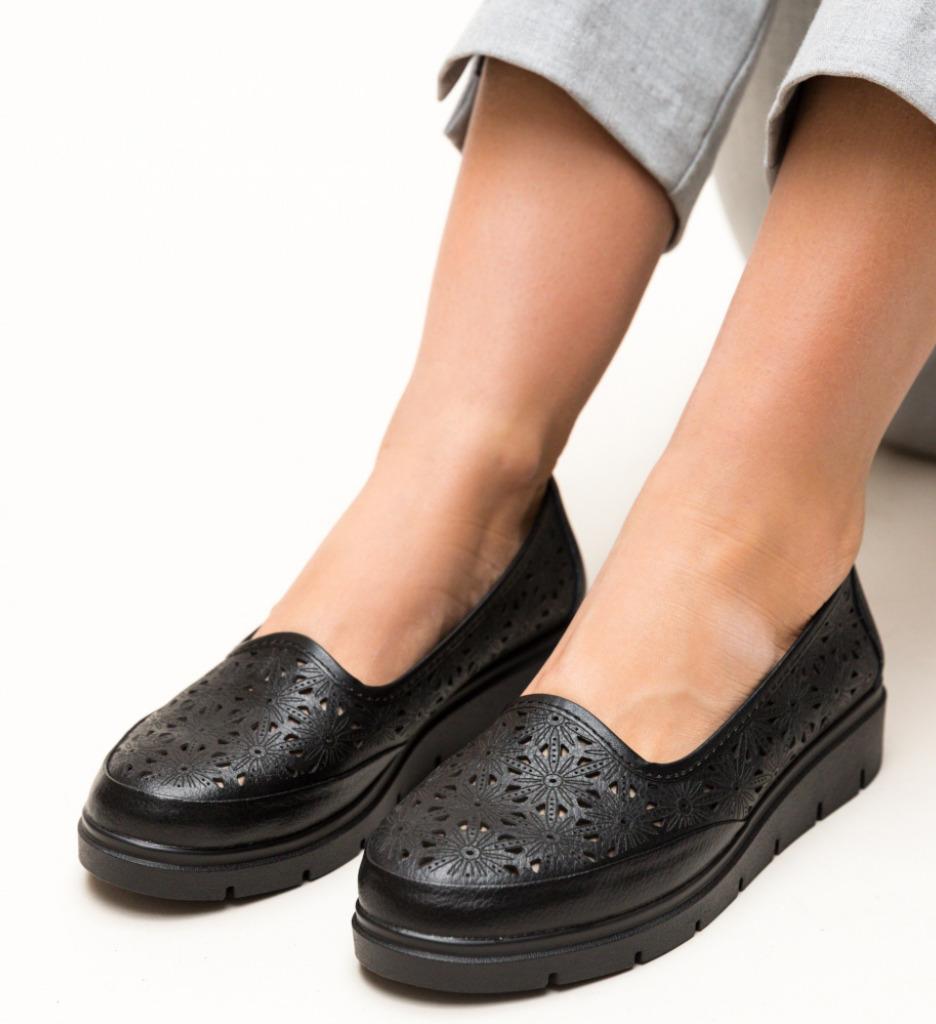 Pantofi Casual Rucu Negri 2 imagine