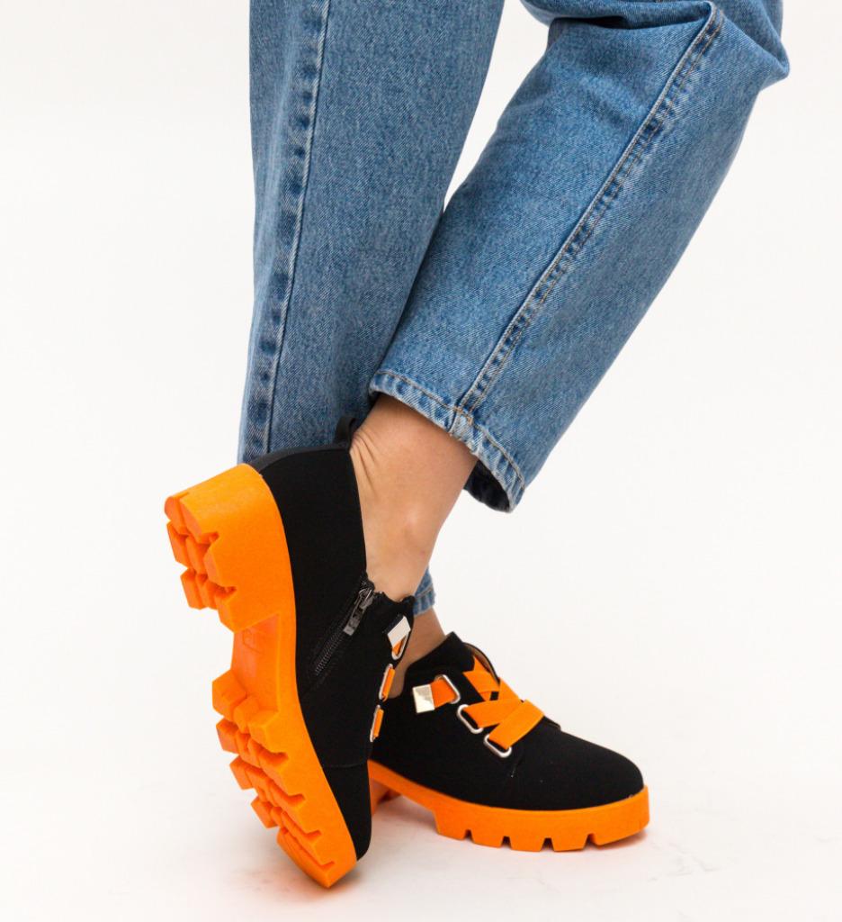Pantofi Casual Samsi Portocali