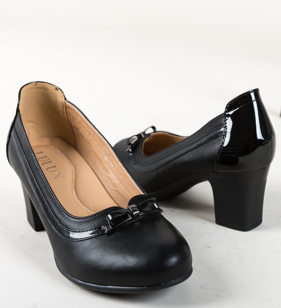 Pantofi Clemons Negri