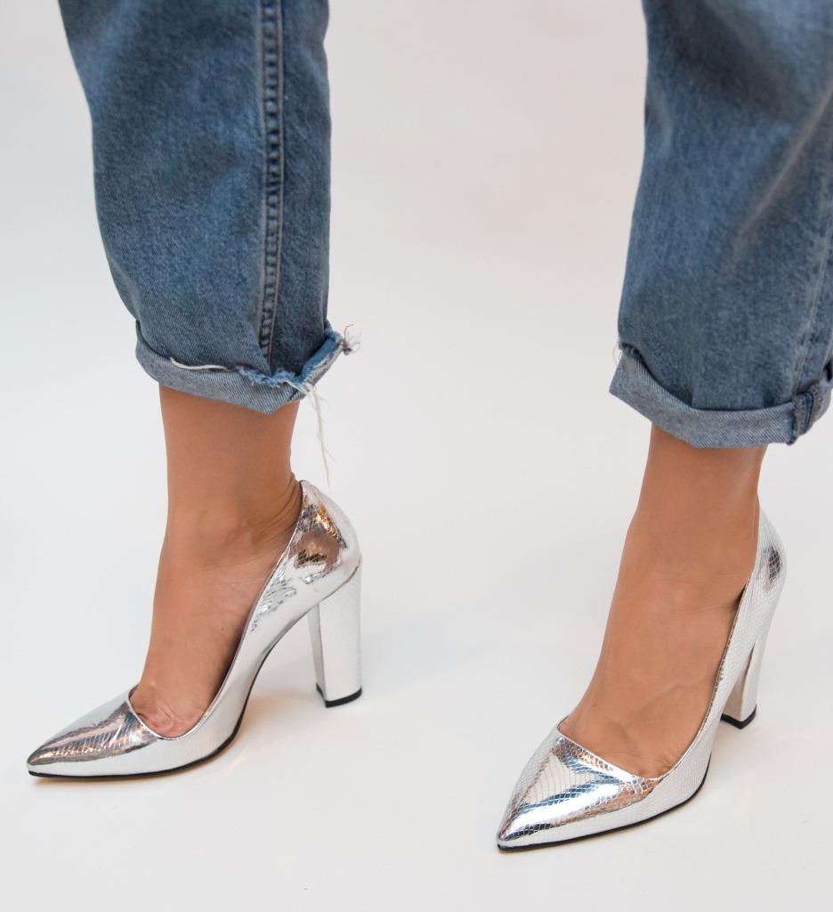Pantofi Dekor Argintii
