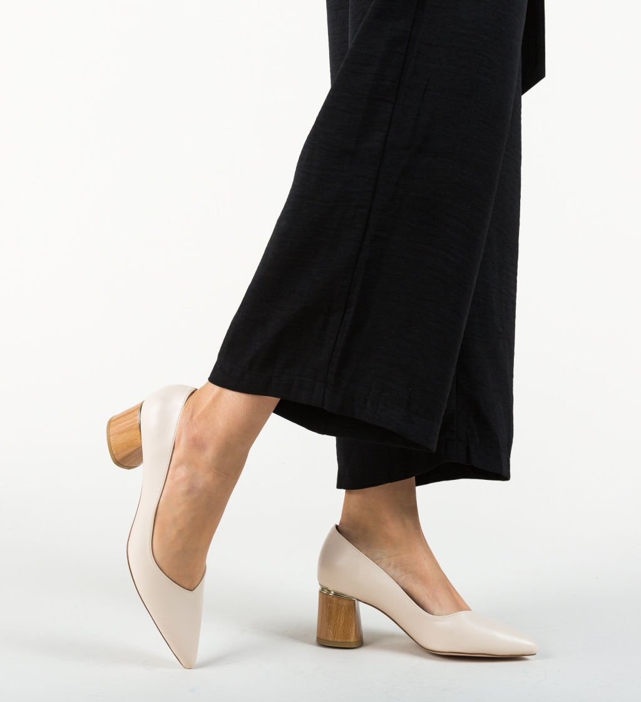 Pantofi Devon Bej