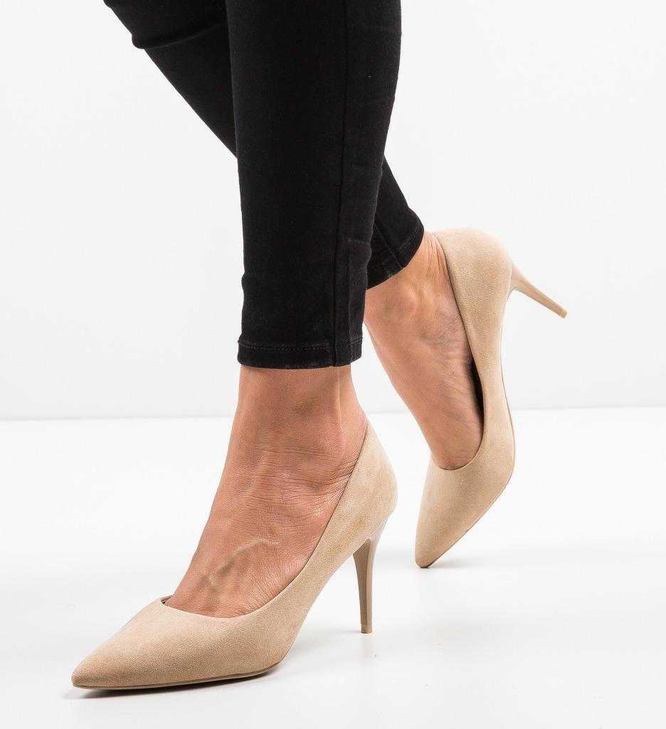 Pantofi Doyle Bej