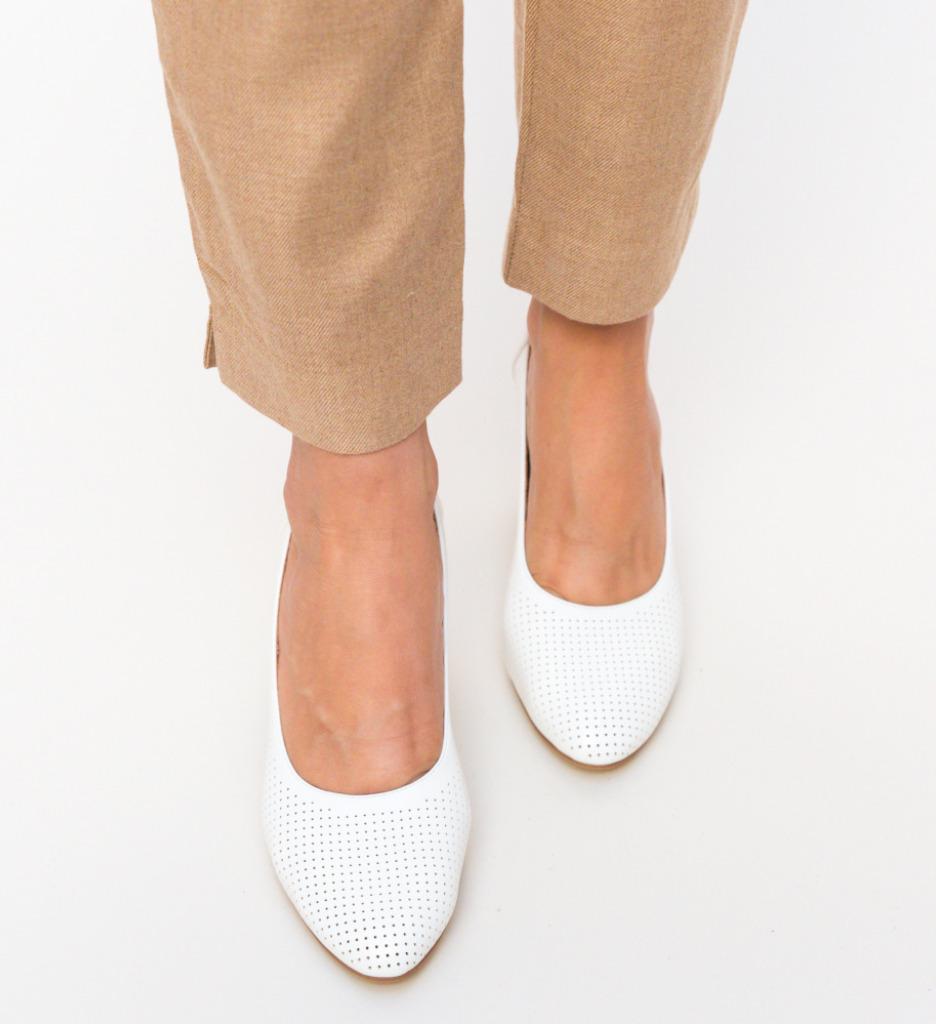 Pantofi Eren Albi