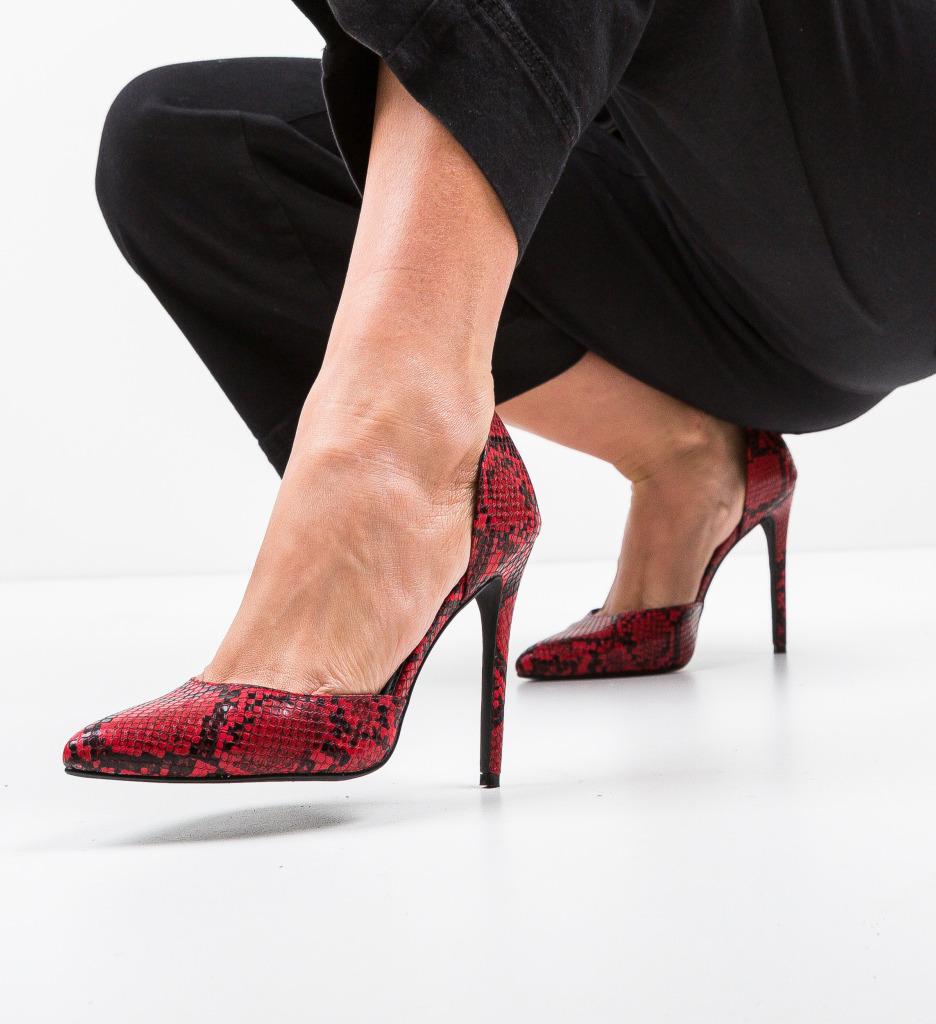 Pantofi Jake Rosii