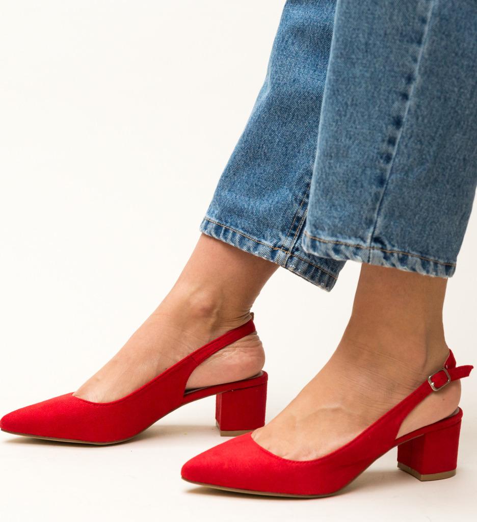 Pantofi Khalil Rosii