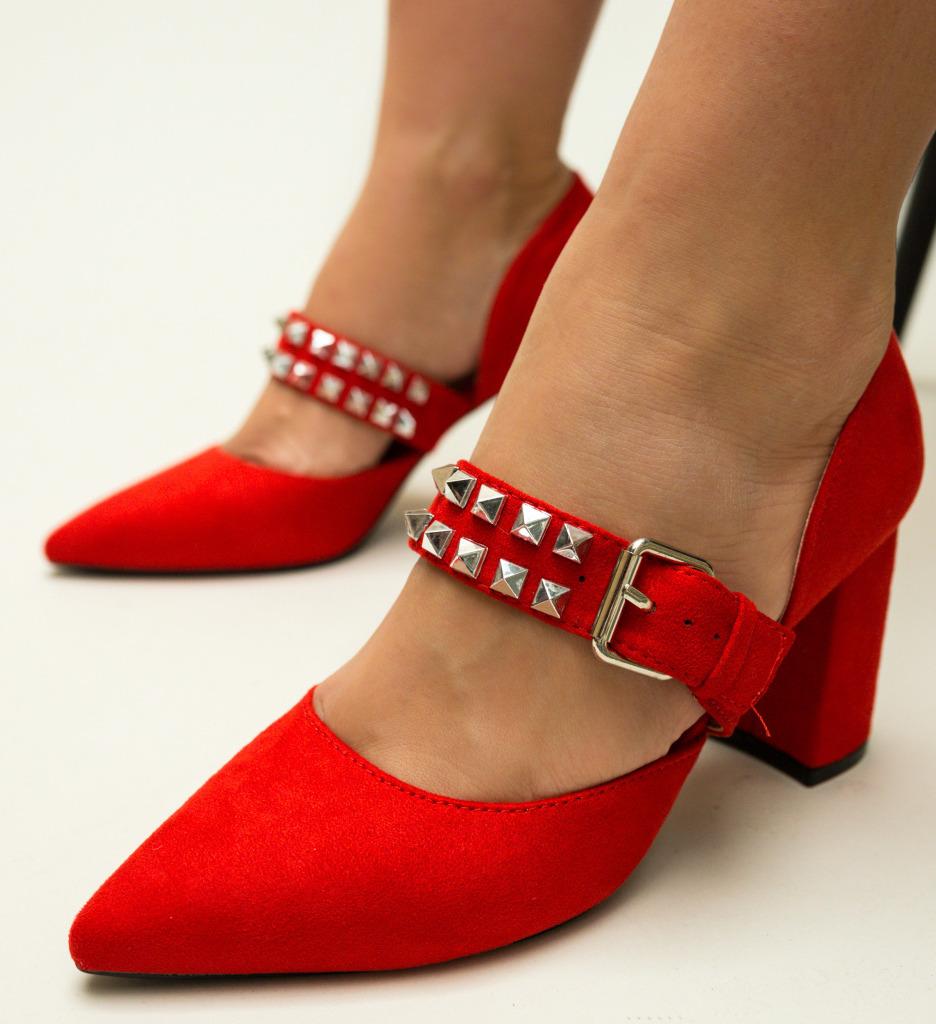 Pantofi Norman Rosii