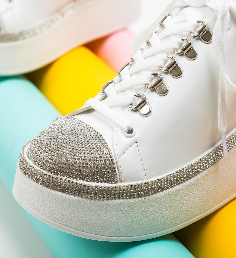 Pantofi Sport Pompu Albi