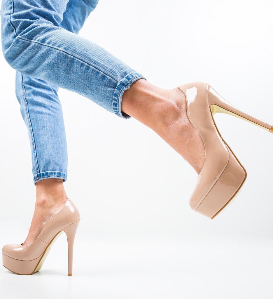 Pantofi Vinso Nude
