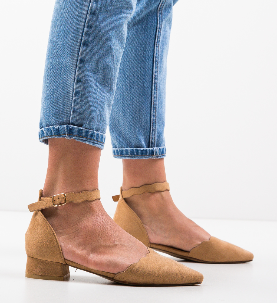 Pantofi Wood Camel