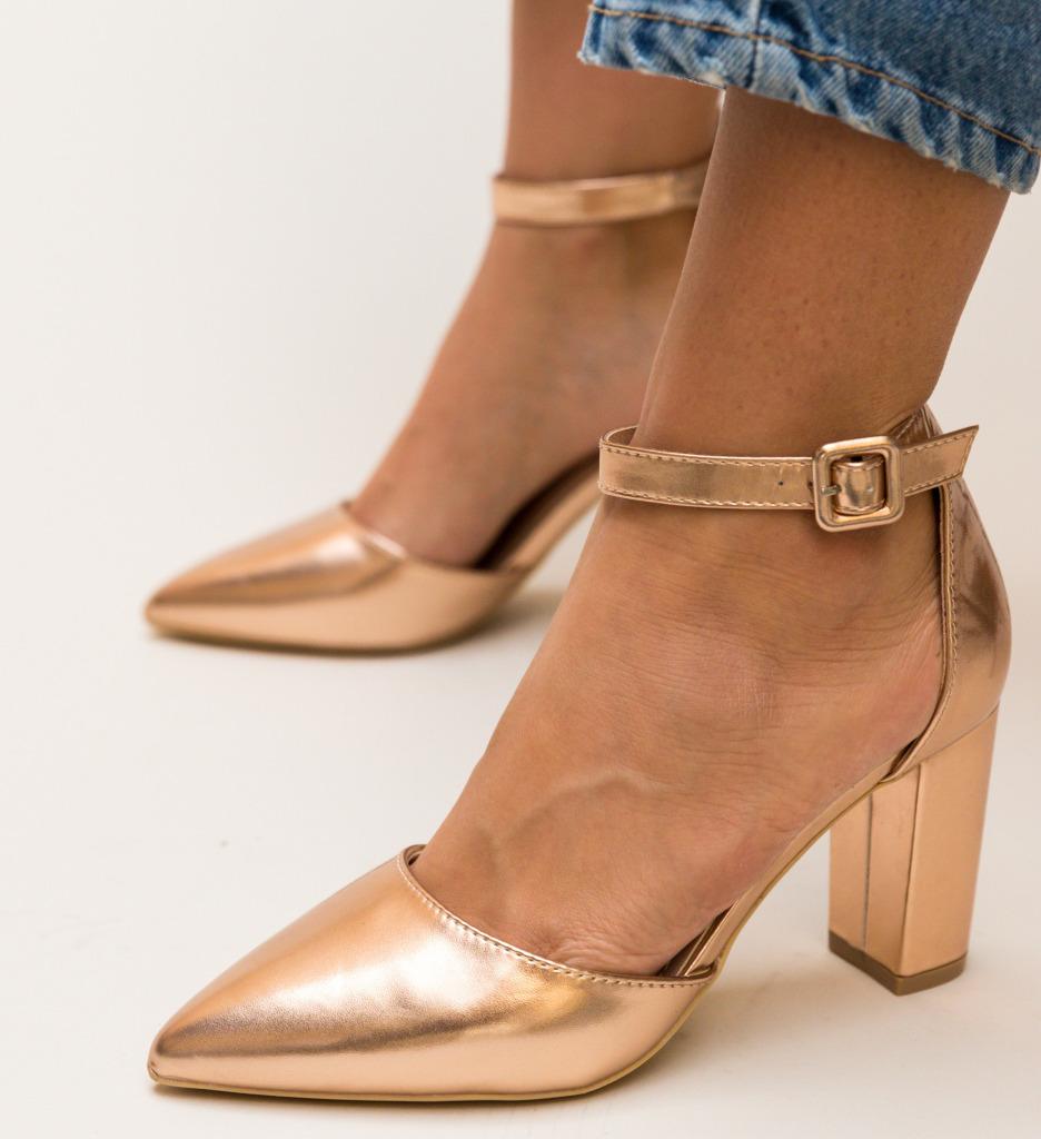 Pantofi Zavala Aurii