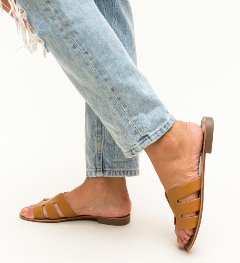 Papuci Nuala Camel