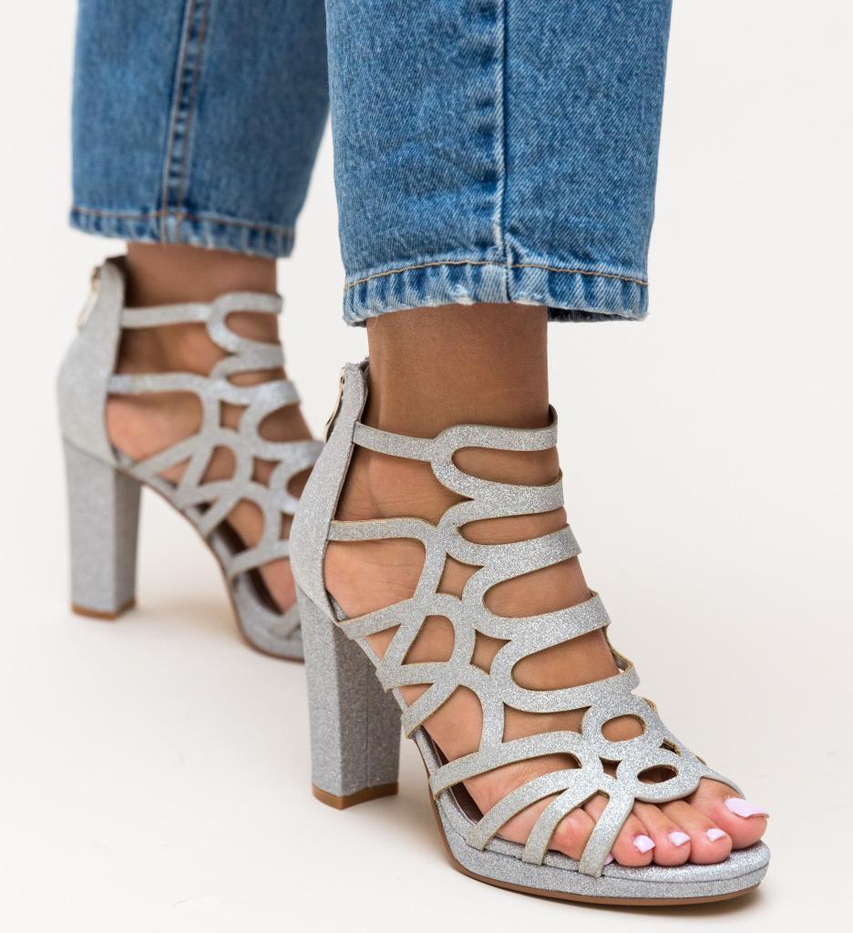 Sandale Laradia Argintii imagine