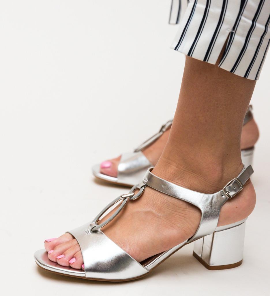 Sandale Luxinano Argintii