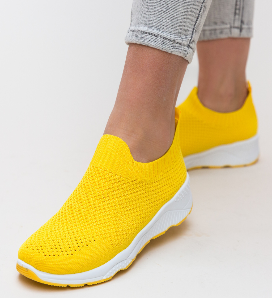 Pantofi Sport Moses Galbeni