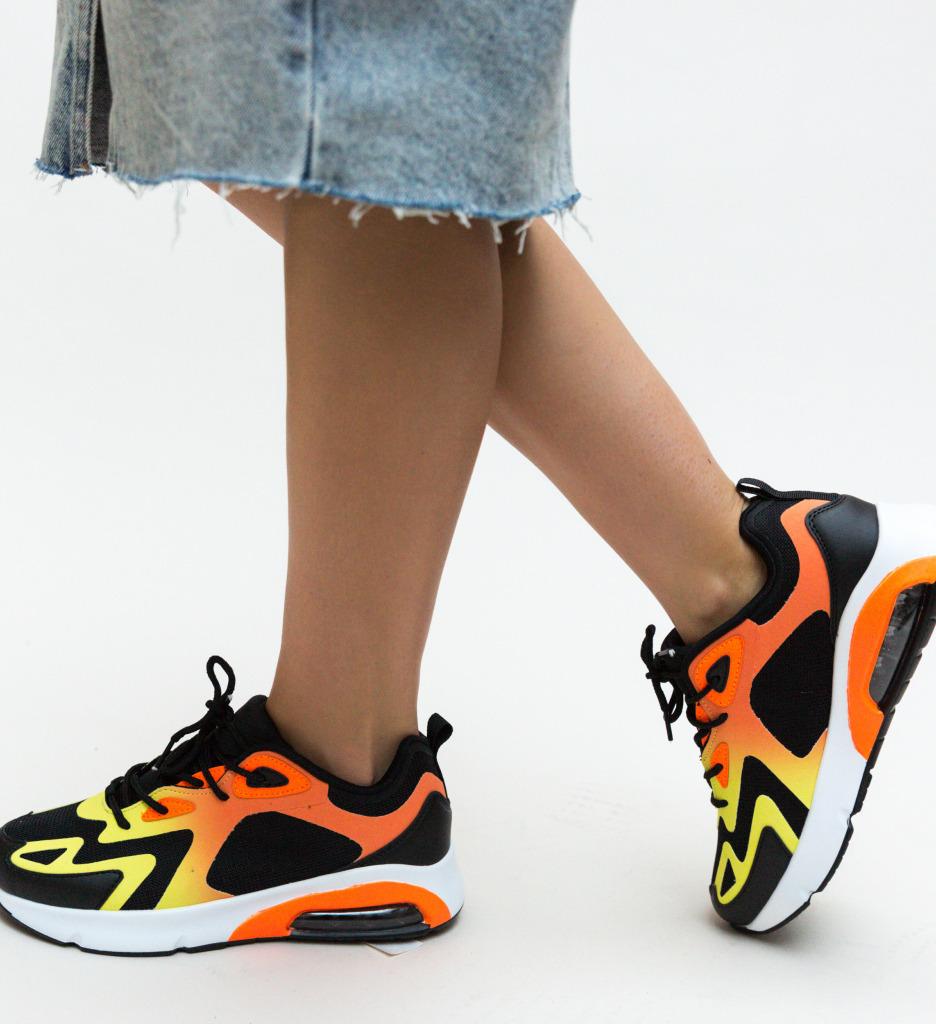 Pantofi Sport Faisal Portocali