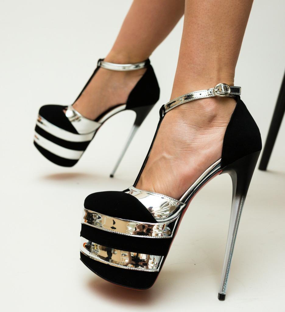 Pantofi Thing Argintii