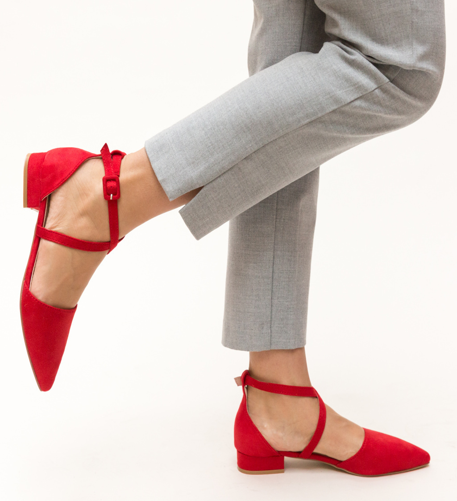 Pantofi Amisha Rosii