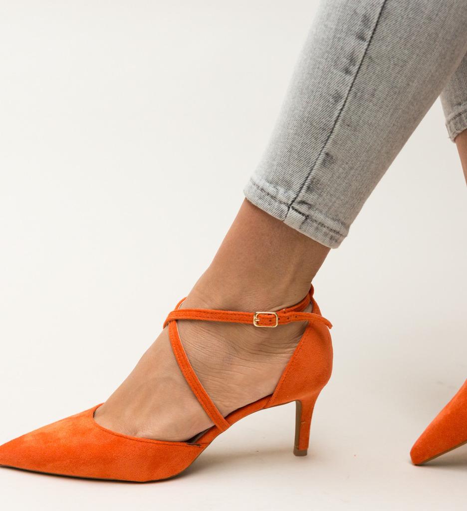 Pantofi Burke Portocalii imagine