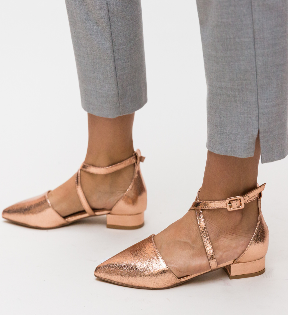 Pantofi Carli Auri 2 imagine 2021