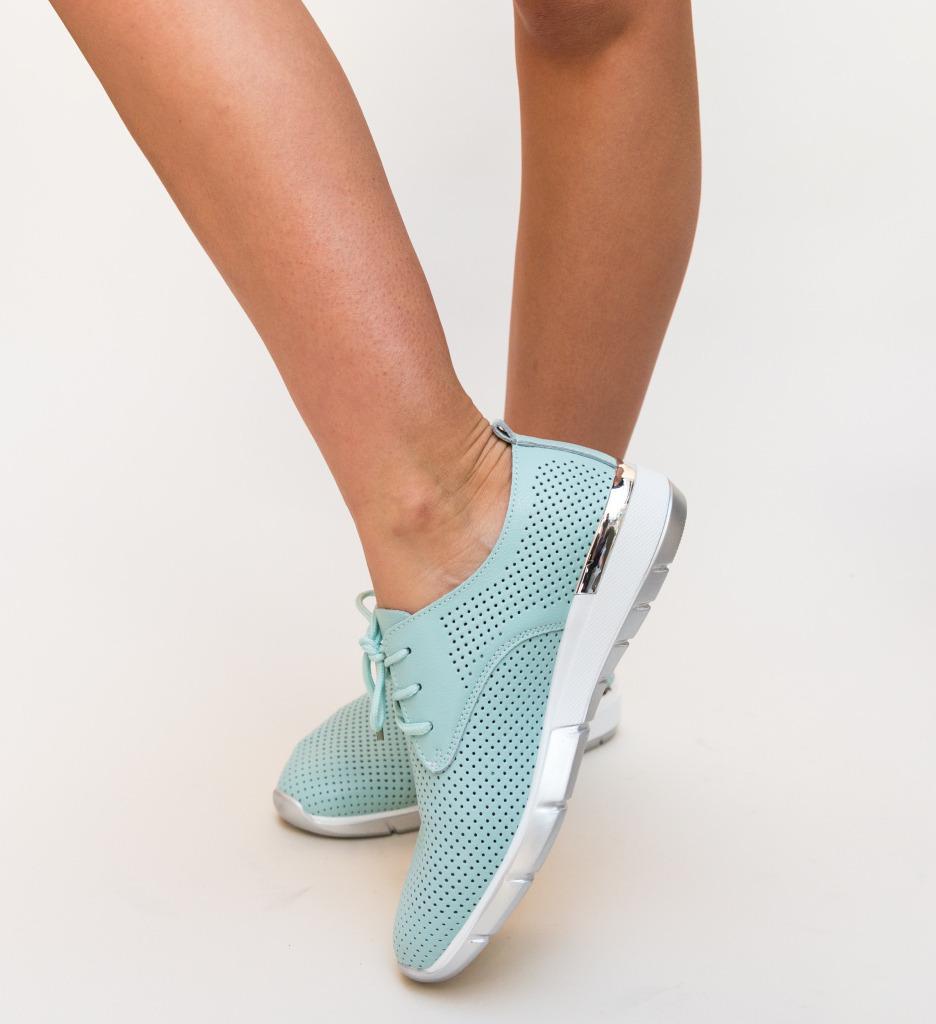 Pantofi Casual Albert Albastri imagine
