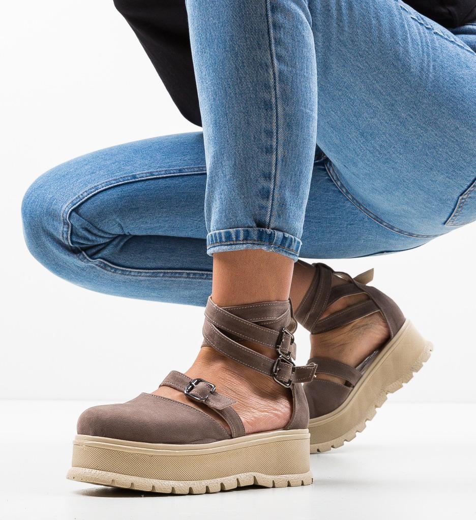 Pantofi Casual Deluxema Khaki