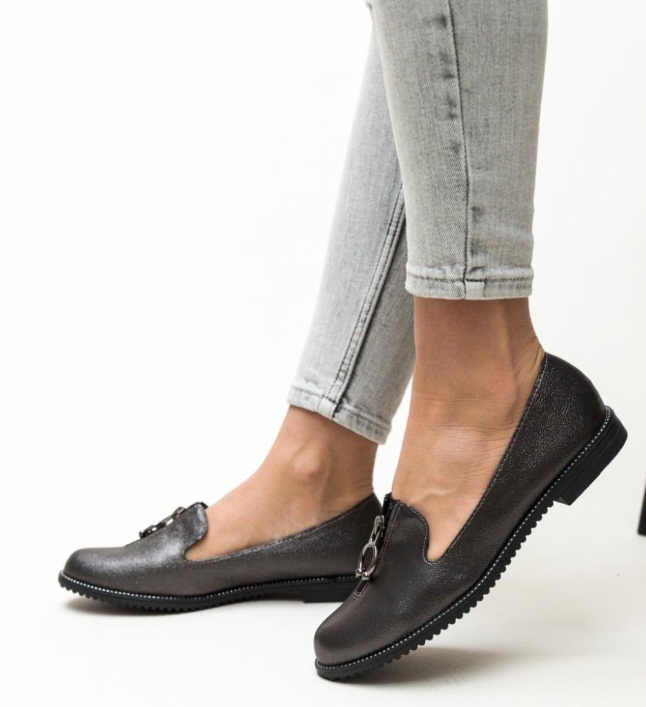 Pantofi Casual Formal Gri
