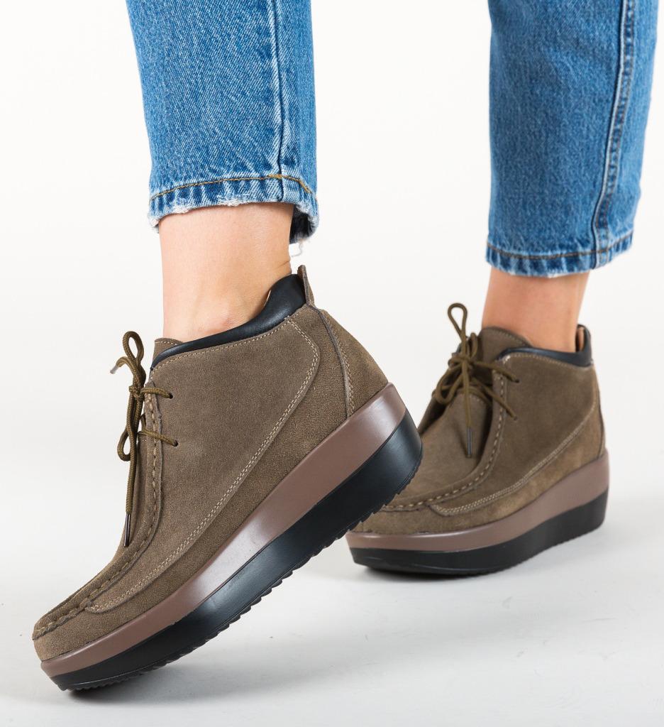 Pantofi Casual Lennon Khaki imagine