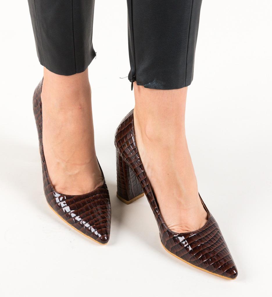 Pantofi Cocodil Maro imagine