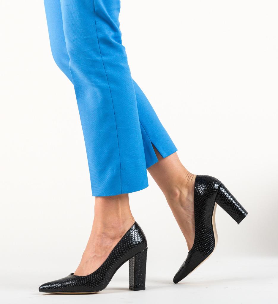 Pantofi Cocodil Negri
