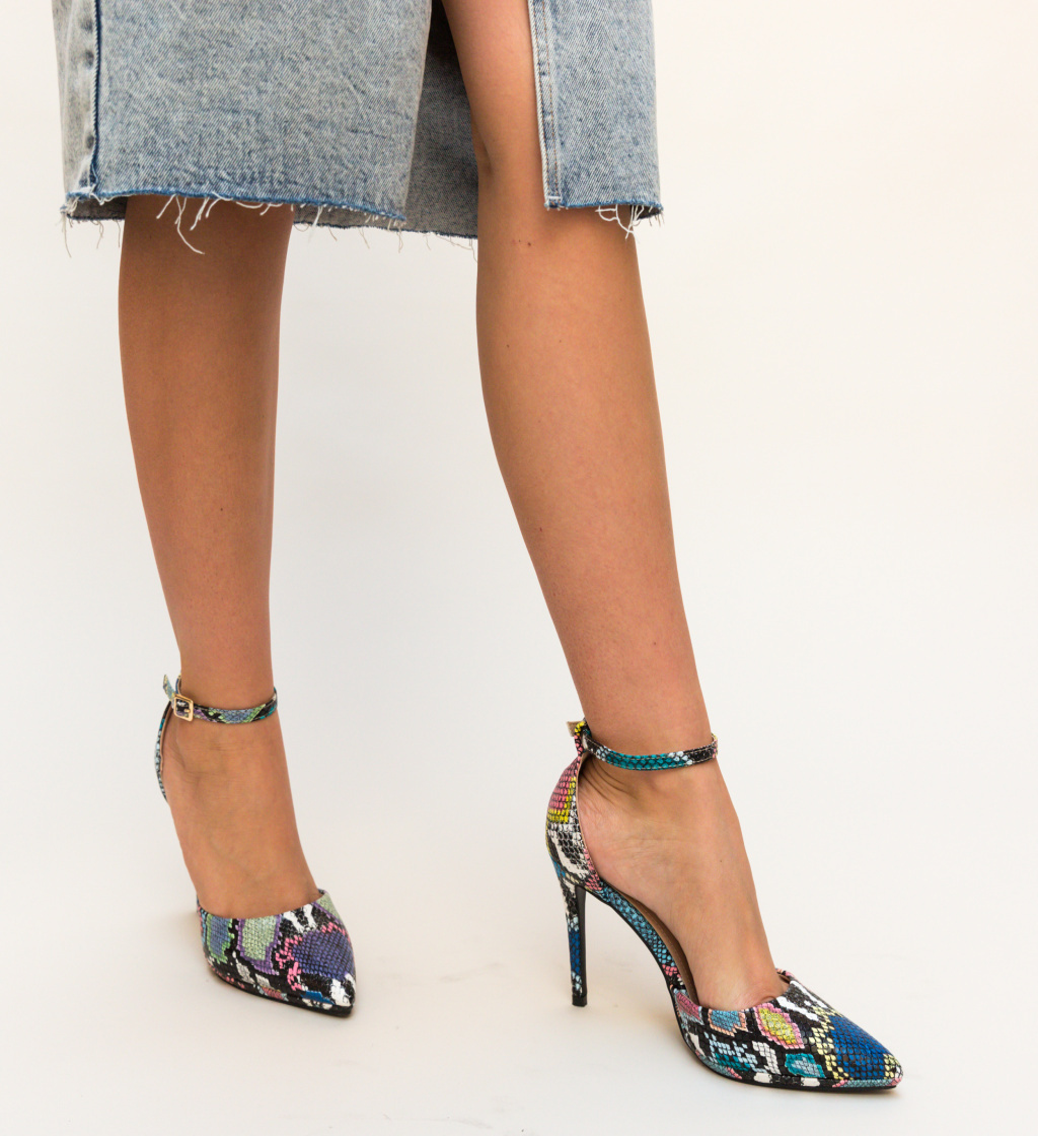 Pantofi Collier Multicolor