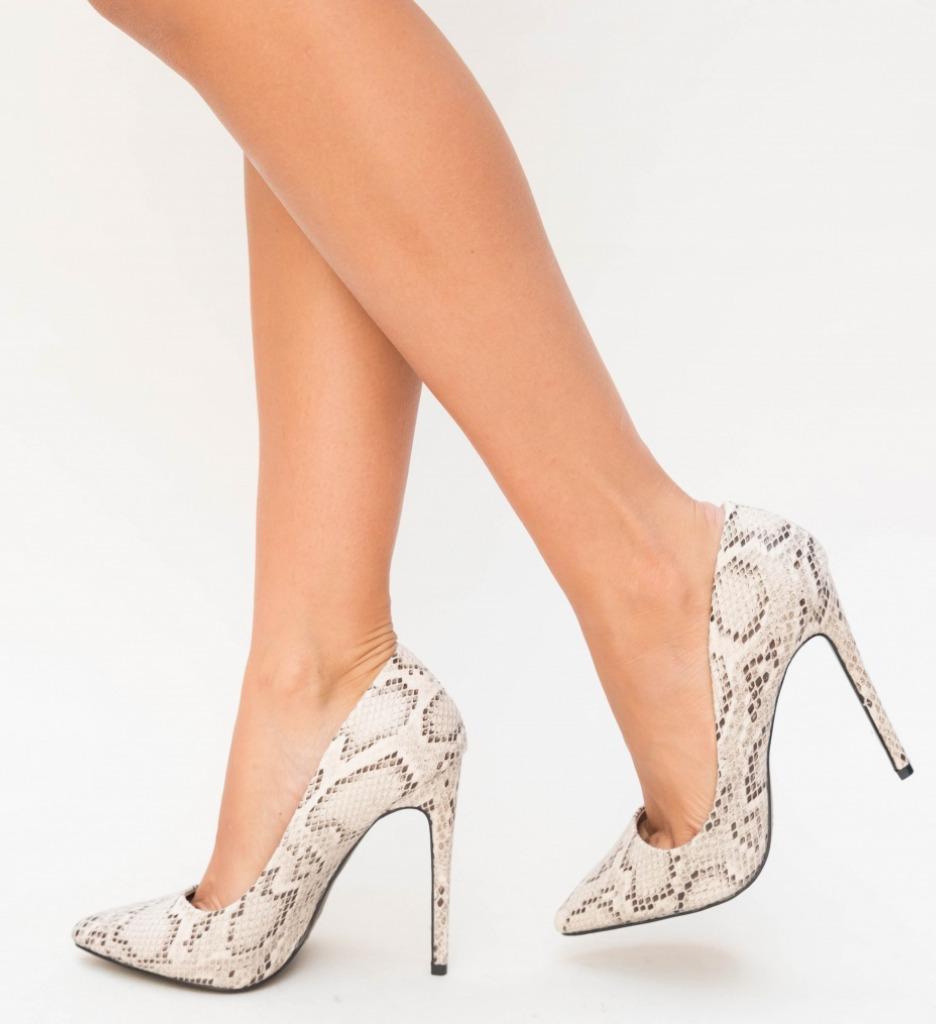 Pantofi Enio Gri