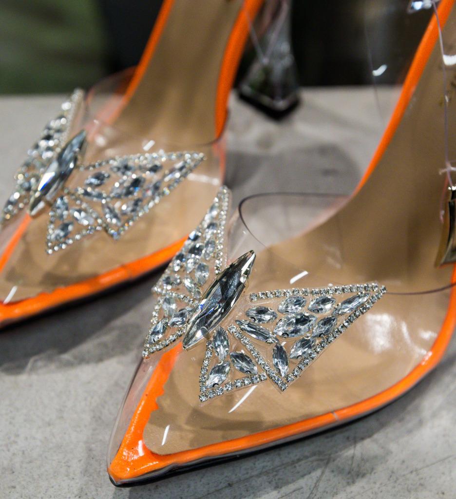 Pantofi Enva Portocalii