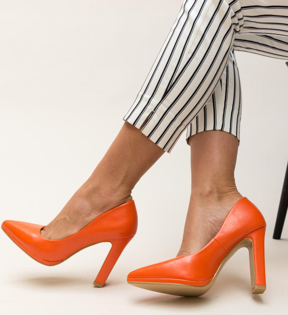 Pantofi Freddy Portocalii