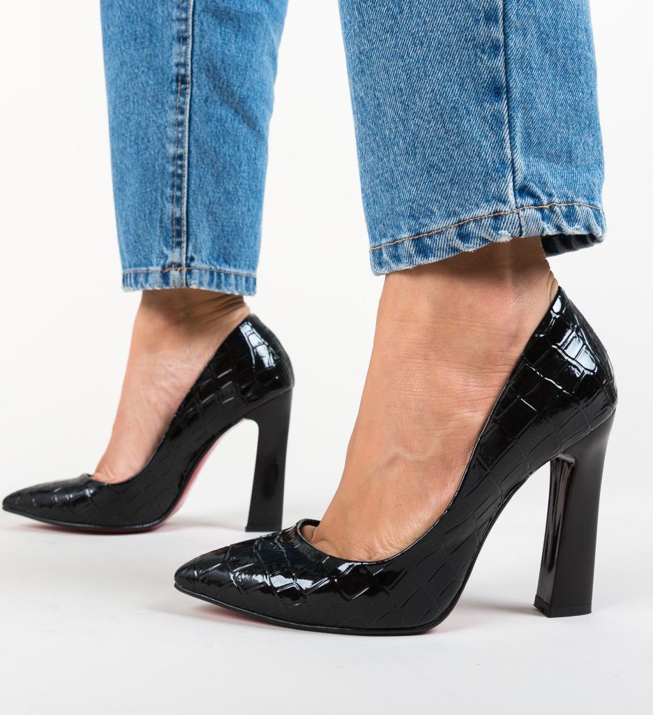 Pantofi Morlon Negri 2