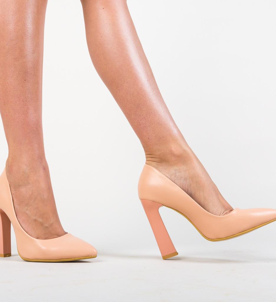 Pantofi Morlon Roz