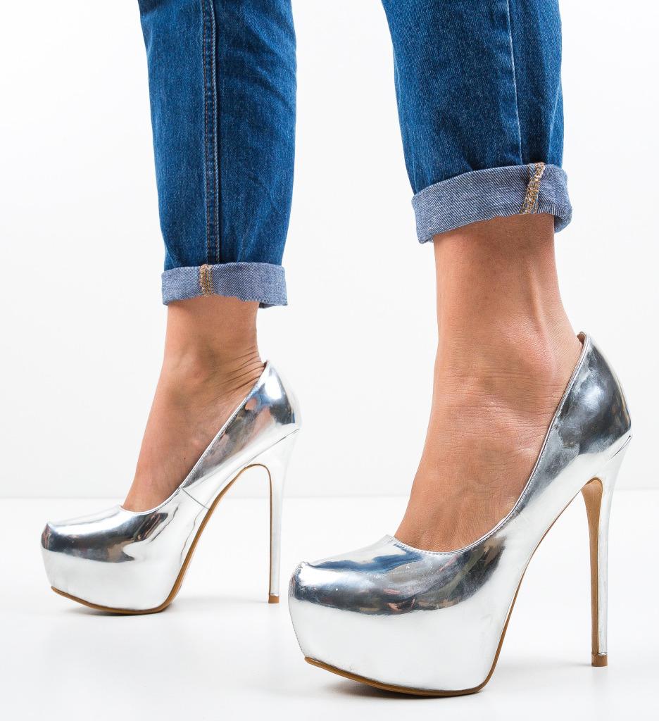 Pantofi Nieve Argintii