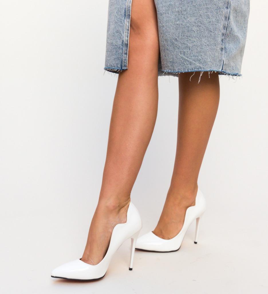 Pantofi Nitel Albi