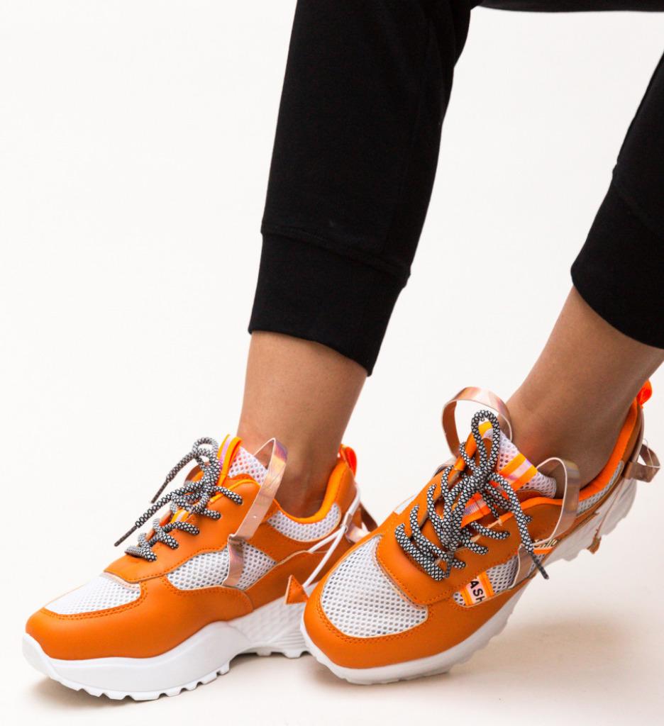 Pantofi Sport Vishal Portocalii