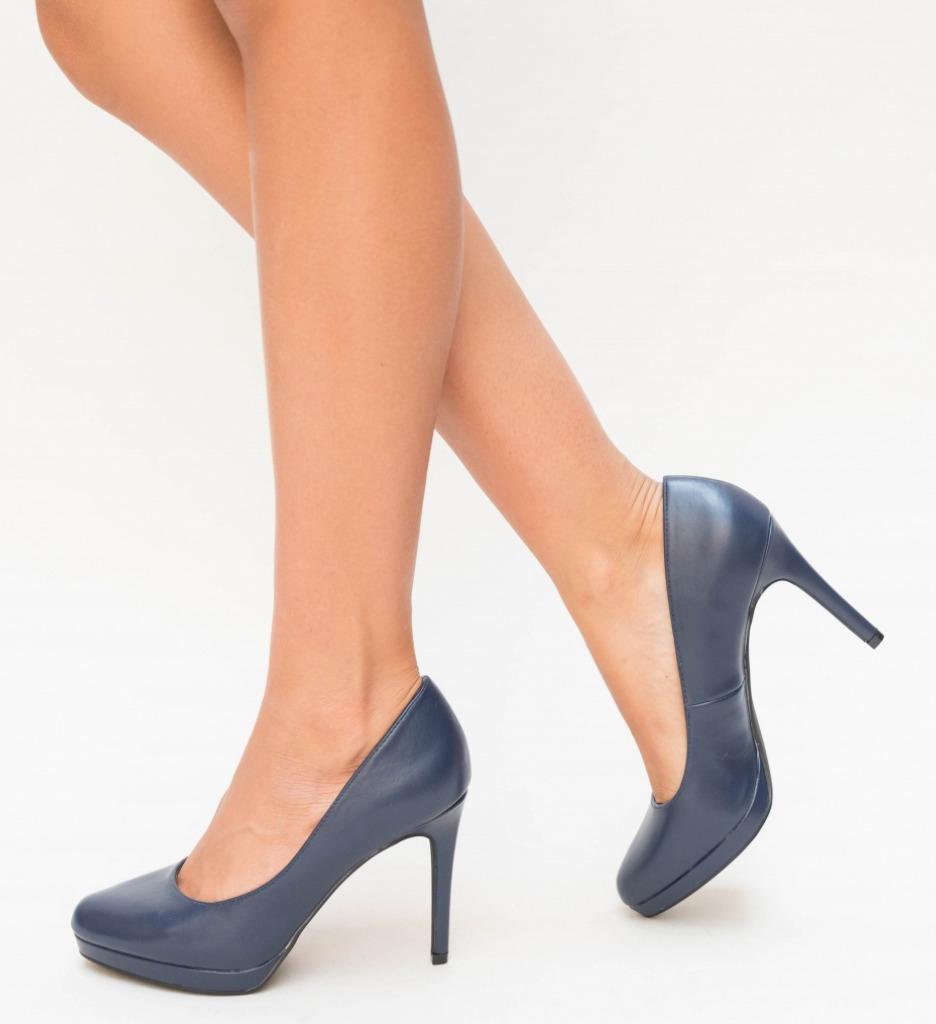 Pantofi Temera Bleumarin imagine 2021