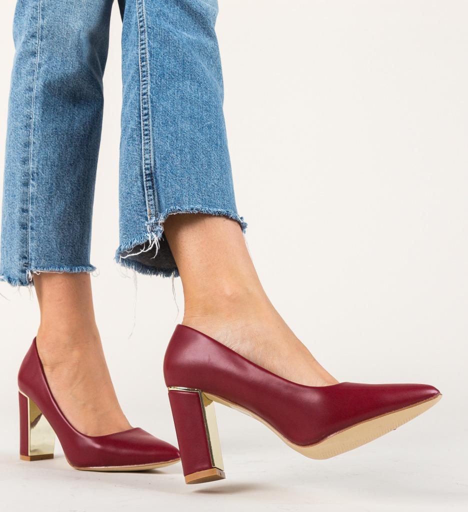 Pantofi Tiramis Grena