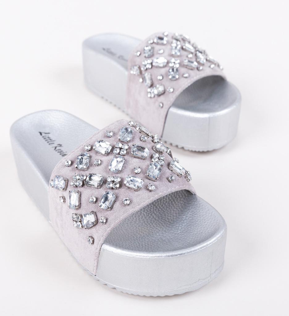 Papuci Bea Argintii