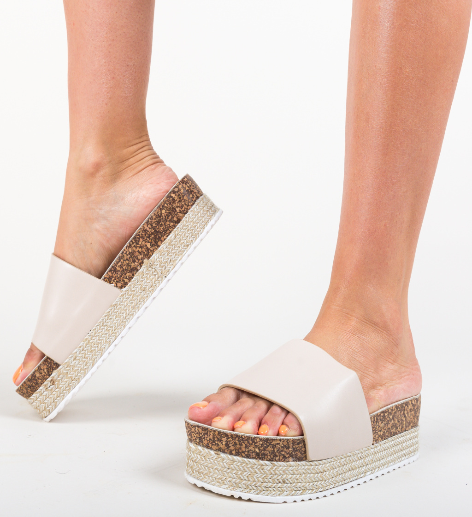 Papuci Draper Bej