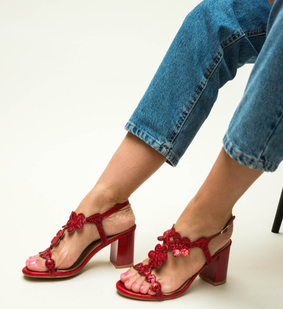 Sandale Callie Rosii imagine
