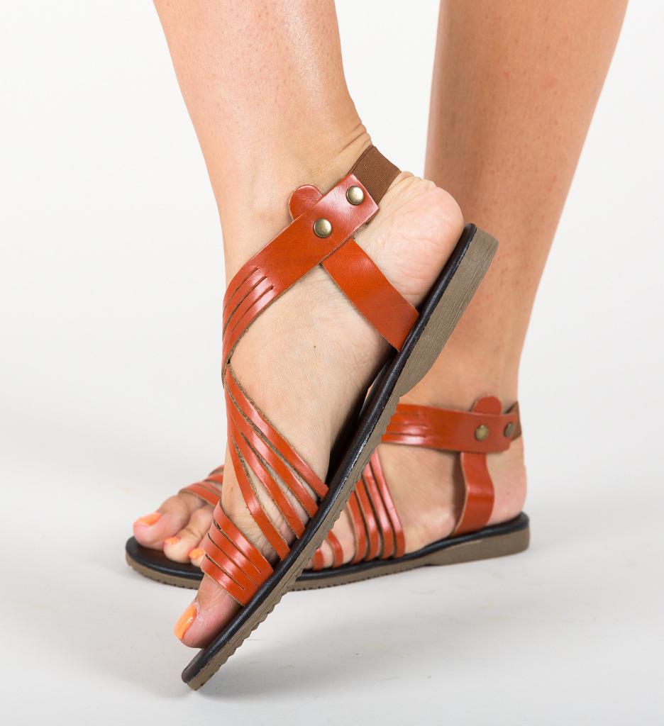 Sandale Listaka Portocalii imagine