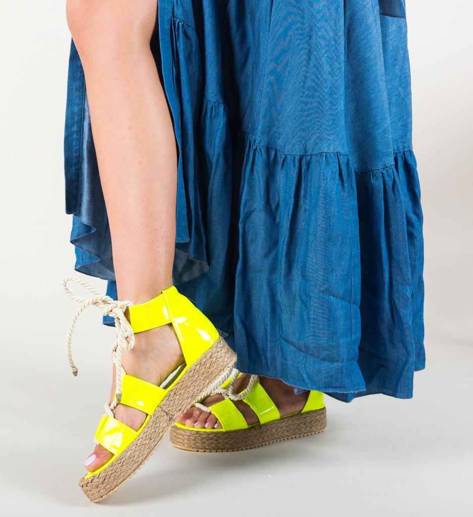 Sandale Pasvon Galbene Neon