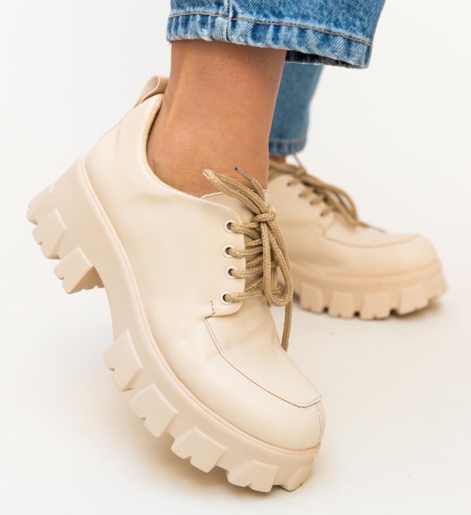 Pantofi Casual Trako Bej