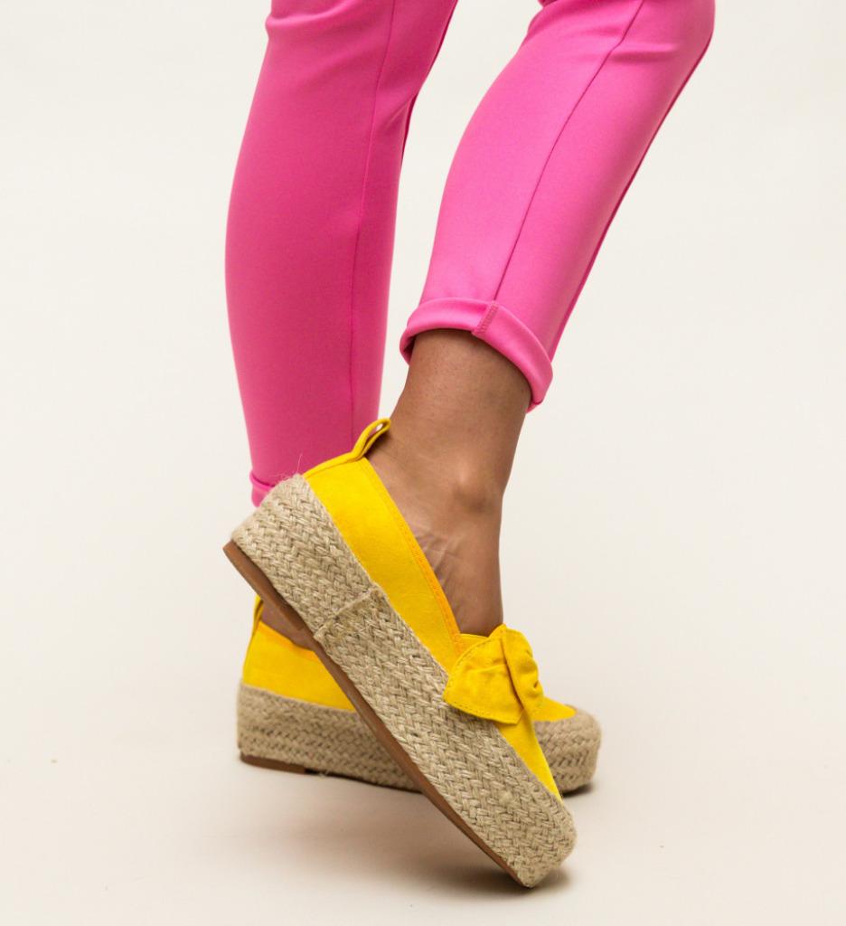 Pantofi Casual Jada Galbeni