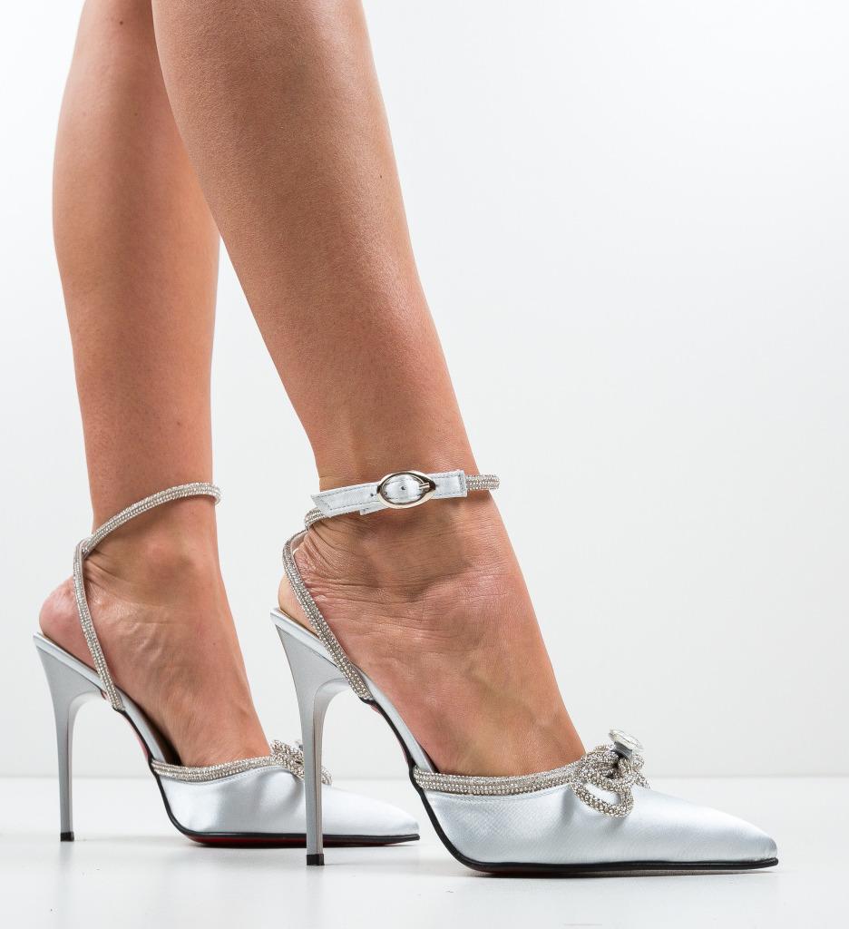 Pantofi Barkas Argintii