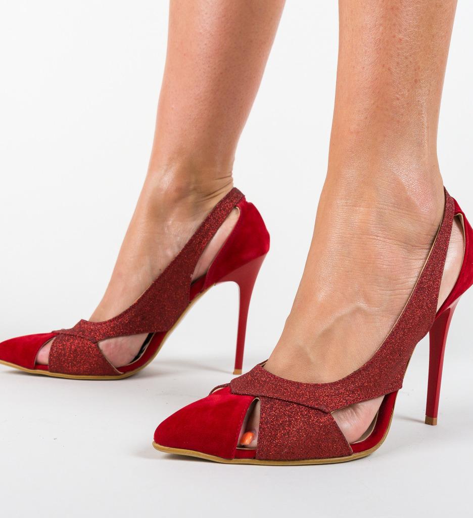 Pantofi Boston Rosii